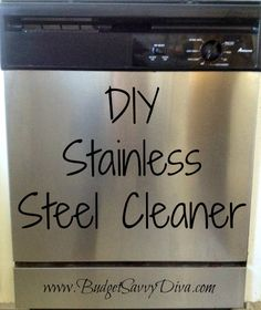 DIY Stainless Steel Cleaner | measure 1/4 cup of baking soda into a small bowl.  Add a liquid soap until you get a frosting-like paste.  Stir well.  Apply to areas needing cleaning, making sure to rinse well!