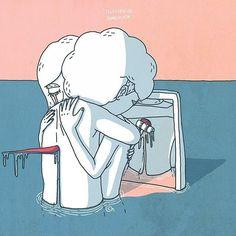 어쩌면 같이 아파하는 사랑보다는 아픔을 주지 않는 사랑이 필요하다 www.fb.com/illuxtrator