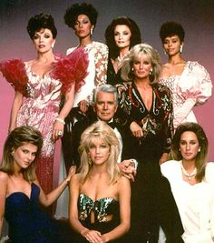 Cast of Dynasty sporting puffed sleeves
