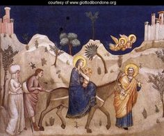 The Flight into Egypt 1310s - Giotto Di Bondone ✏✏✏✏✏✏✏✏✏✏✏✏✏✏✏✏ IDEE CADEAU   ☞ http://gabyfeeriefr.tumblr.com/archive .....................................................   CUTE GIFT IDEA  ☞ http://frenchvintagejewelryen.tumblr.com/archive   ✏✏✏✏✏✏✏✏✏✏✏✏✏✏✏✏