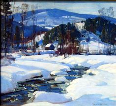 Aldro Thompson Hibbard (1886 – 1972)  Winhall River Valley, Vermont