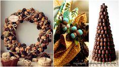 49 Incredibly Beautiful Acorn Crafts to Pursue – Haus Dekoration Diy Pallet Christmas Tree, Christmas Tree Design, Diy Christmas Cards, Christmas Crafts, Modern Christmas, Beautiful Christmas, Christmas Ornaments, Diy Arts And Crafts, Creative Crafts