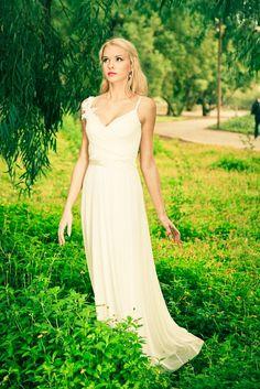 Vestido de novia Boho vestido de novia romántico vestido de