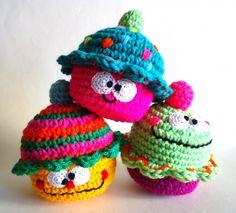Muñequito cupcake tejido | Feria Central