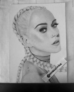 """Polubienia: 154, komentarze: 9 – @mrscalinka na Instagramie: """"Finished drawing of #katyperry 😉 who should I draw next? 😎 Art supplies @kohinoor_hardtmuth #draw…"""""""