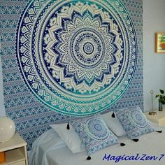 """ Magical Zen 7"" Tapiz decorativo pared Siguenos en Facebook Instagram y Youtube"