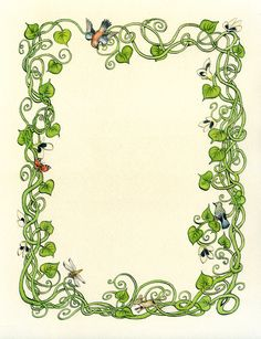 I've been fascinated by fairy tales and fairy lore for as long as I can remember. Page Borders Design, Border Design, Banners, Jack And The Beanstalk, Cute Frames, Fairy Crafts, Garden Journal, Borders And Frames, Paper Frames