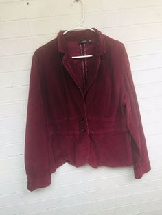 fb01d73a54a5 A.N.A Maroon Women s Blazer Jacket Size XL Career 3 Button Business Casual