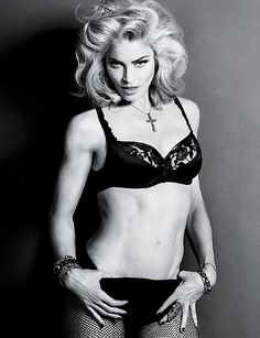 Madonna, (full name: Madonna Louise Veronica Ciccone) is an American singer, actress and director. Madonna is also the ever-transfo. Guy Ritchie, Jack White, Justin Bieber, Famous Directors, Divas, Madonna Photos, Madonna 80s, Modern Dance, Black White