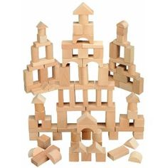 Maxim 100 Piece Natural Wooden Blocks