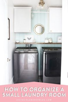 Don't miss these small laundry room organization and decor ideas that will have your laundry room looking neat, tidy, and beautiful in no time! #laundryroom #smalllaundryroom #laundryroomdecor #organizedlaundryroom Laundry Room Organization, Organization Hacks, Organizing Ideas, Bathroom Storage, Laundry Room Pictures, Collapsible Laundry Basket, Hangout Room, Laundry Supplies, Small Laundry