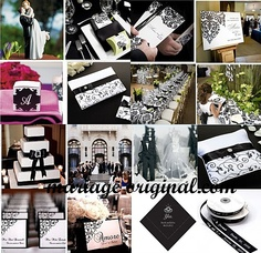 Wedding baroque on pinterest baroque mariage and for Decoration mariage noir et blanc