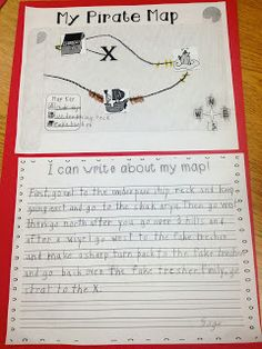 Pirate Map and write about it for Pirate Day at school.