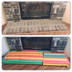 baby proof fireplace with gates www ohhappyplay com lenni rose rh pinterest com baby proofing a fireplace screen Fireplace Baby Proofing Products