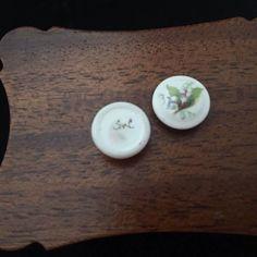 makers mark for Karen Griffiths, Stokesay Ware - SW hand written on porcelain items