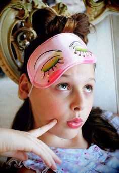 Set up eye mask customization stations. | 39 Slumber Party Ideas To Help You Throw The Best Sleepover Ever