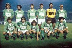 ASSE 1980 Retro Football, Vintage Football, Football Soccer, Michel Platini, St Etienne, Football Images, Team Photos, The Past, Baseball Cards