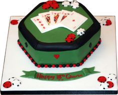 deck of cards cake topper | Blackjack table cake with cards and chips | Nottingham | Derby | UK ...