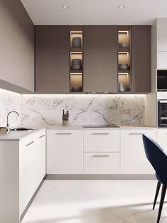 27 Modern Kitchen Interior Design That You Have to Try Home Kitchens, Modern Kitchen Furniture, Modern Kitchen Interiors, Home Decor Kitchen, Kitchen Room Design, Kitchen Interior, Interior Design Kitchen, Kitchen Furniture Design, Modern Kitchen Design
