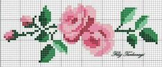 For Valentine's Day 5 Designed by Filiz Türkocağı / floral / rose / border Cross Stitch Boarders, Cross Stitch Rose, Cross Stitch Baby, Cross Stitch Flowers, Modern Cross Stitch, Cross Stitch Charts, Cross Stitch Designs, Cross Stitching, Cross Stitch Embroidery