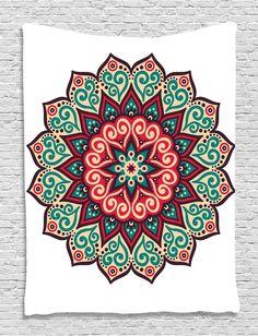 Indian Bohemian Mandala Tapestry ~ Wall Hanging