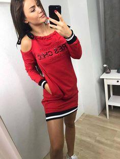 Prezrite si našu ponuku, nájdeš tam aj tieto športové šaty v top kvalite Chic, Sweaters, Dresses, Fashion, Shabby Chic, Vestidos, Moda, Elegant, Fashion Styles