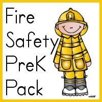 Free Preschool Fire Safety Printables #homeschool #preschool