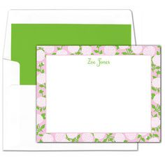 Pink Flower Flat Note Cards