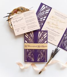 Wedding Invitation Designers: Unique and Creative Custom Wedding Invitations and Stationery by Coral Pheasant via the Oh So Beautiful Paper Designer Rolodex