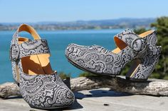 Photos of John Fluevog shoes in locations around NZ, specifically in Mount Maunganui. For the Ladies who are bold and want to be seen in gorgeous & unique footwear! John Fluevog Shoes, Low Heels, Shoes Online, Boat Shoes, Footwear, Vacation, Lady, Boots, Sneakers