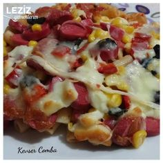 Delicious Pasta Pizza Recipe – My Delicious Food - Salat Best Dinner Recipes, Pizza Recipes, Great Recipes, Chicken Recipes, Comida Pizza, Mashed Potato Pancakes, Nougat Recipe, Loaded Baked Potato Soup, Baked Cod