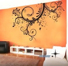 LARGE 66x44 inches Flower Blooming----art Graphic Vinyl wall decals stickers home decor. $65.25, via Etsy.