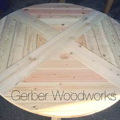 Round farmhouse table  www.gerberww.wordpress.com