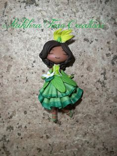 Tiana flower dress polymer clay