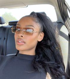 Cute Sunglasses, Sunglasses Women, Sunnies, Baddie Hairstyles, Cool Hairstyles, Pretty People, Beautiful People, Black Girls, Black Women