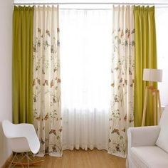 Multi-color Linen and Cotton Blend Privacy Butterfly Curtain Living Room Decor Curtains, Home Curtains, Living Room Windows, Living Room Colors, New Living Room, Curtain Ideas For Living Room, Window Curtains, Glass Door Coverings, Living Room Tv Unit Designs