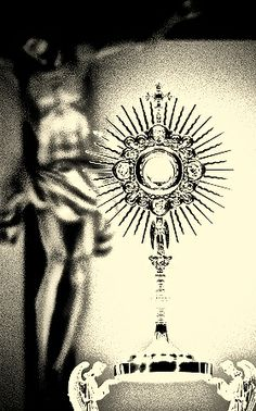 """Eucharistic Adoration >  """"It is the worship of Jesus Christ outside of the mass. A consecrated host is placed in a monstrance and set upon the altar for the faithful to worship. It is by far the best kept secret in our faith.The graces that you can receive; the comfort and spiritual direction that can be yours are nearly indescribable""""                                  ~ Catholic Answers"""