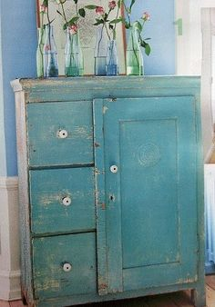 blue cupboard - love it