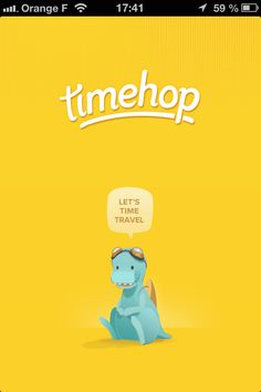 Timehop. i want this app. Let's time travel! I knew my iphone was good for something!