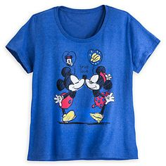 Mickey and Minnie Mouse Scoop Neck Tee for Women - Plus Size