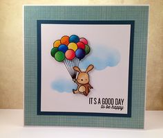 It's a good day to be happy - Mama Elephant, Card made by Stef