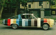 colour swatch display for Plymouth Barracudas in the 1960′s and 1970′s