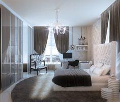 Grey White Feminine Bedroom Comfy Dream Apartment