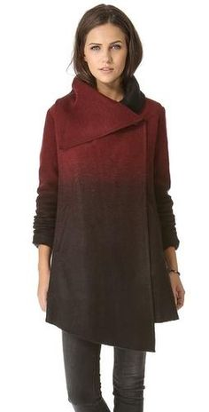 BB Dakota Amber Ombre Melton Coat. Love, but I bet it would look really awkward on me...