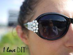 DIY : Des lunettes à strass | Strass sunglasses | I love DIY