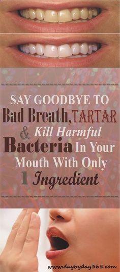 Get Rid Of Bad Breath, Plaque, Tartar and Harmful Bacteria !