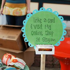 Beef up your Etsy business, Julianne. Life In The Thrifty Lane: Friday Night Finds: Craft Show Display Ideas