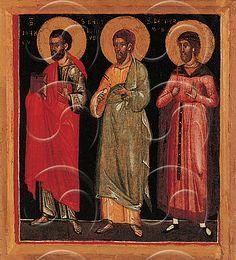 Maestro di Caorle - Santi Pietro, Andrea, Giovanni e un santo vescovo, seconda metà del XIV secolo