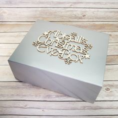 Your place to buy and sell all things handmade Christmas Eve Box, Silver Christmas, Merry Christmas, Empty, Projects To Try, Decorative Boxes, Cricut, Awesome, Unique Jewelry