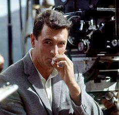 """"""" Rock Hudson photographed by Leo Fuchs while filming Come September, 1961. """""""